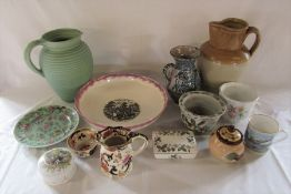 Assorted ceramics inc Royal Winton bowl, Wedgwood, Masons & Royal Worcester
