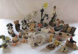 Selection of animal ornaments