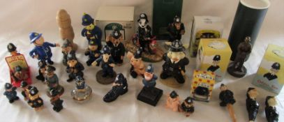 Various collectable Policeman figures inc Regency Fine Arts and Robert Harrop