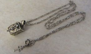 Spanish silver necklace and memorial / keepsake locket weight 9.7 g / 0.31 ozt (marked 925)