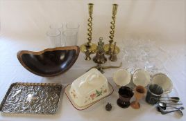 Various ceramics and glassware inc Duchess tea cups and saucers and Royal Winton, silver plate,