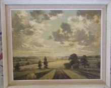 Clive Browne (1901-1991) framed oil on canvas 'Near Brigsley' May 1973 58.5 cm x 48 cm (size