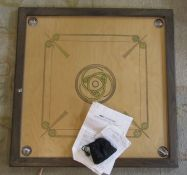Oriental board game - Karom complete with instructions and balls 81 cm x 81 cm