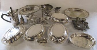 Quantity of silver plate inc tureens, egg cups and rose bowl