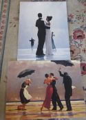2 large canvas prints by Jack Vettriano 60 cm x 80 cm