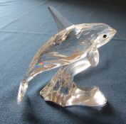 Swarovski Orca whale 622939 L 9.5 cm complete with box etc (tail possibly reglued)