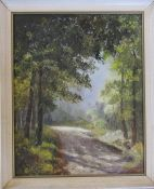 Framed oil painting 'Summer contrasts' by Alex Jennings 58 cm x 47.5 cm (size including frame)