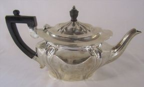 Small silver Victorian Art Nouveau style teapot Sheffield 1896 H 12 cm total weight 12.23 ozt