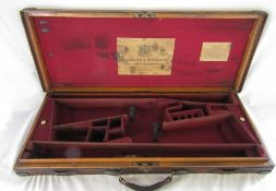 Holland & Holland Gun and Rifle Manufacturers 98 New Bond Street London leather double gun case with