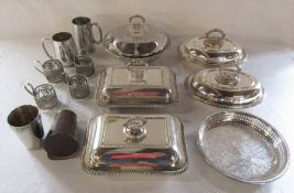 Various silver plate inc tureens