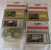 3 boxed Corgi collectors' classic cars & others