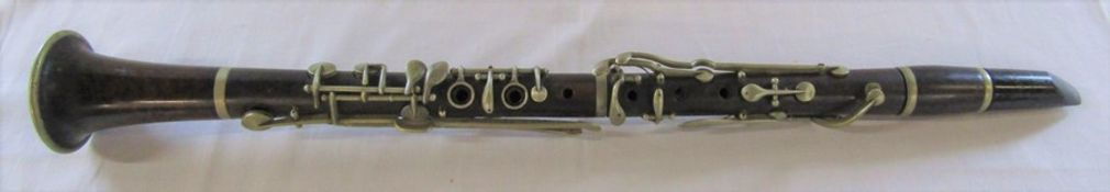 J F Beeson London wooden clarinet L 64 cm