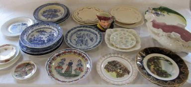 Various ceramics inc Quimper, Alfred Meakin and Minton