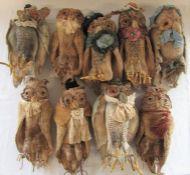 9 Daria Sikora OOAK handmade owls (primitive dolls)