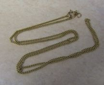 9ct gold necklace weight 4.6 g L 56 cm