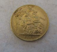 22ct gold full sovereign Queen Victoria Jubilee 1892