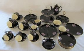 Palissy Orchid pattern part tea service