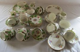 Royal Worcester Roanoke and Royal Grafton Academy part tea services