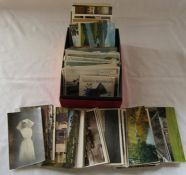 Assorted postcards inc topographical