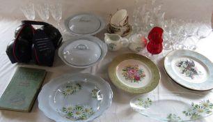 Various ceramics inc Swinnertons, Perfect Cooking book, bowls set, glassware etc