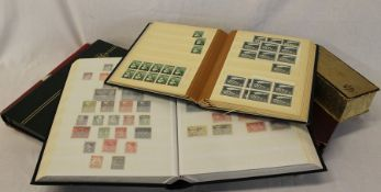 World collection of stamps in 6 albums and stock books, mostly pre 1970 - useful lot including