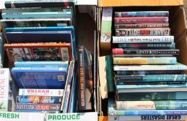 1 box of aviation books / videos & 1 other box of various books