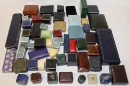 Quantity of old jewellery boxes, some vintage