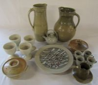 Collection of local Studio pottery