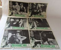 6 Nightmare in Wax film posters starring Cameron Mitchell and Anne Helm c.1969 35.5 cm x 28 cm