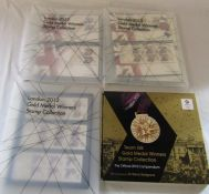 Collection of London 2012 gold medal winners stamp collection inc stock stamps, FDC's and Team GB