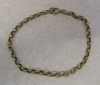 "9ct gold bracelet weight 3.6 g L 7"""