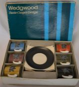 Wedgwood Susie Cooper designed Harlequin boxed coffee can set
