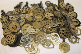 Selection of horse brasses - some old