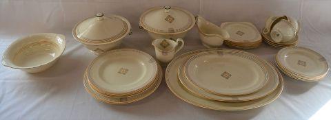 Art Deco Minton part tea/dinner service & a Alfred Meakin bowl