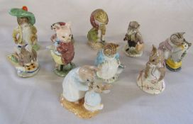 Selection of Beatrix Potter Royal Albert figurines - Mrs Rabbitt and Peter, No more twist, Ribby and
