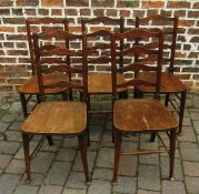 5 ladder back chairs with spade feet