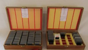 2 boxes of photographic slides relating to aeroplanes, airships and tanks etc