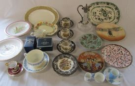 Various ceramics inc Wedgwood, Palissy game series, Royal Worcester and Royal Doulton