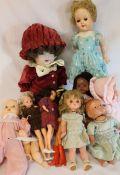 Modern Simon Halbig bisque doll, 2 Sindy dolls, Wonder Woman & vintage dolls including Pedigree
