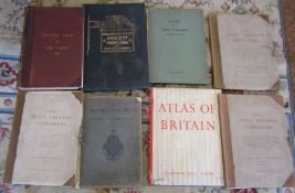 Large architectural books and atlases inc Victory Atlas of the World, Atlas of Britain, The