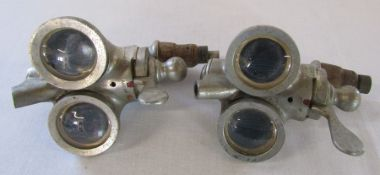 Pair of vintage Gaskell & Chambers Ltd double optics purportedly obtained from The Theatre Royal