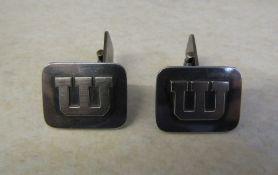 Pair of Swedish silver cufflinks weight 12.1 g / 0.39 ozt