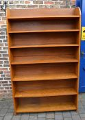 Oak bookshelf unit H 199 cm L 122 cm