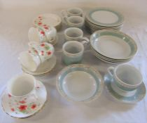 Wedgwood 'Aztec' part dinner service and Royal Vale poppy pattern part tea service