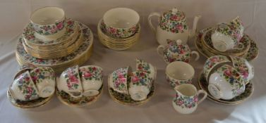 Crown Staffordshire 'Thousand Flowers' part tea/dinner service