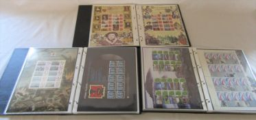3 albums of Royal Mail smilers stamps 75 sheets in total (face value approximately £900)