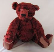 Large red jointed teddy bear L 52 cm