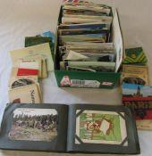 Quantity of postcards and a postcard album inc topographical