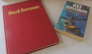 Red Arrow book signed by various pilots together with 617 Squadron book signed by pilots/crew