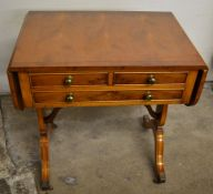 Small Bevan Funnell Reprodux reproduction Regency sofa table